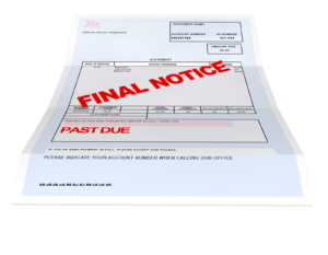 Overdue bill image - Can you get a deadbeat tenant to pay on time