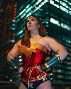 Wonder Woman confident stance hands on hips legs wide - Does acting confident make you feel confident?