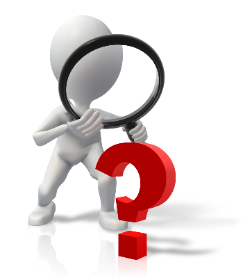 beanie image with magnifying glass and red question mark - How to find a great rental property