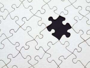 black missing piece in white puzzle -What's the Weirdest Way you Lost a Tenant?